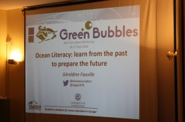 Geraldine Fauville (Gothenburg University) gave a keynote lecture on the current status of Ocean Literacy in Europe