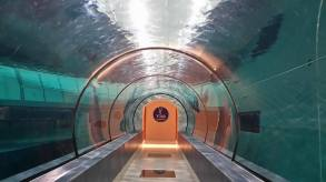 Walking through the world's deepest pool