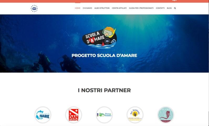 Scuola D'Amare, Ocean Literacy, subacquea