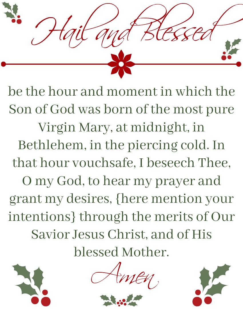 picture about St Andrew Novena Printable titled St. Andrew Xmas Novena Inexperienced Catholic Burrow