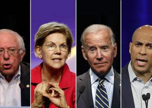 images of 4 presidential candidates