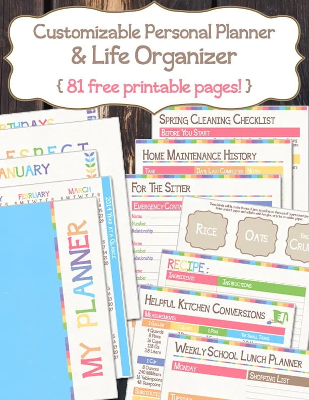 Free Personal Planner