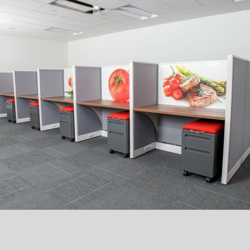 Call Center Cubicles To Tell Your Story Green Clean Designs Telemarketing