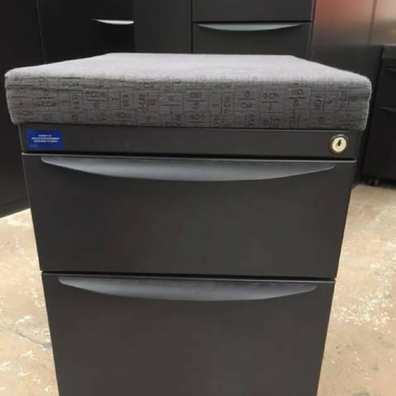 Rolling File Cabinet With Seat