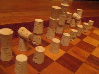 Cork chess set_recycle raccoon