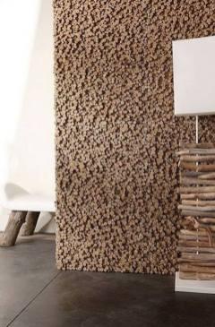 parede feita em rolhas de cortiça