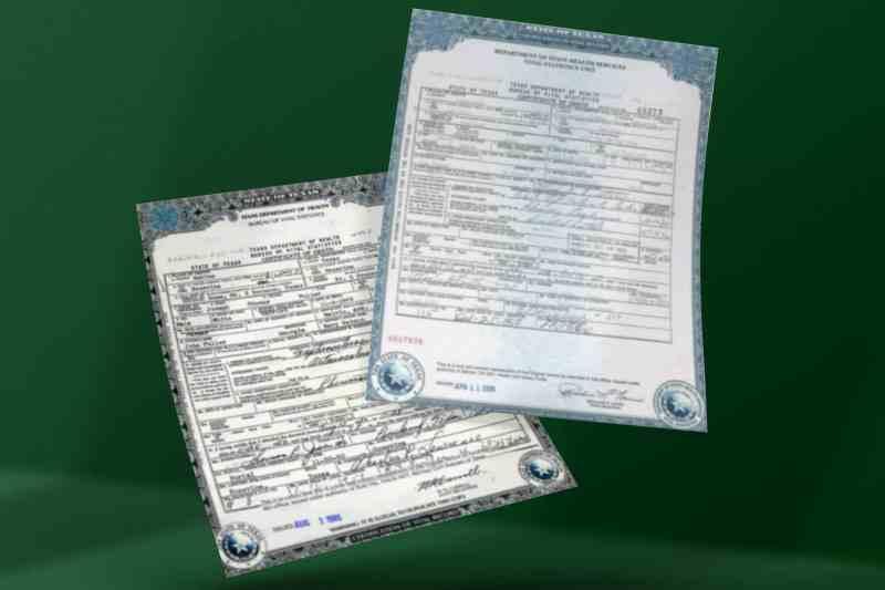 Texas Death Certificates