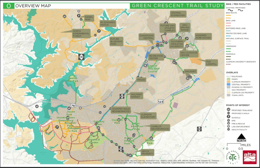 Overview Map - Green Crescent Trail Feasibility Study