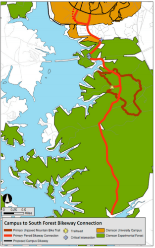 Map - CU Campus to North Forest Bikeway - Green Crescent Trail