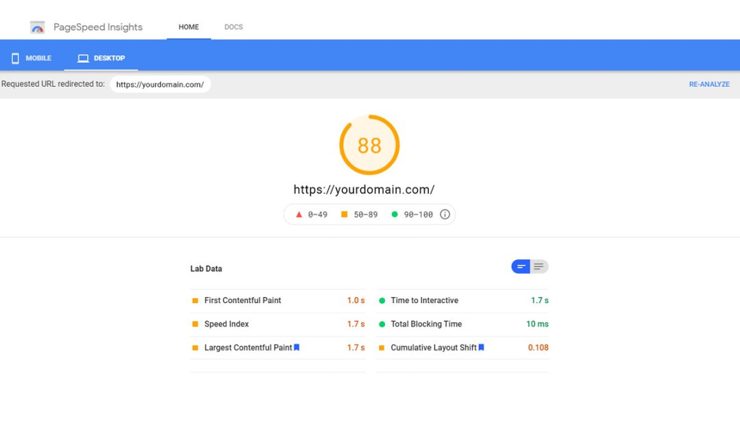 Core Website Vitals - PageSpeed Insight | GreenCup Digital