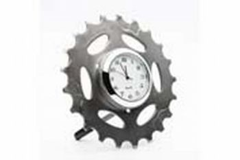 bike cog desk clock