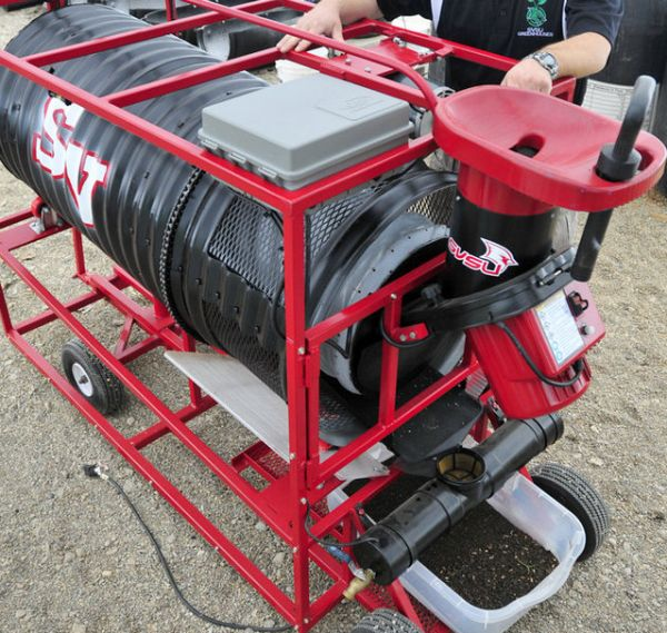 Compost machine designed by SVSU students