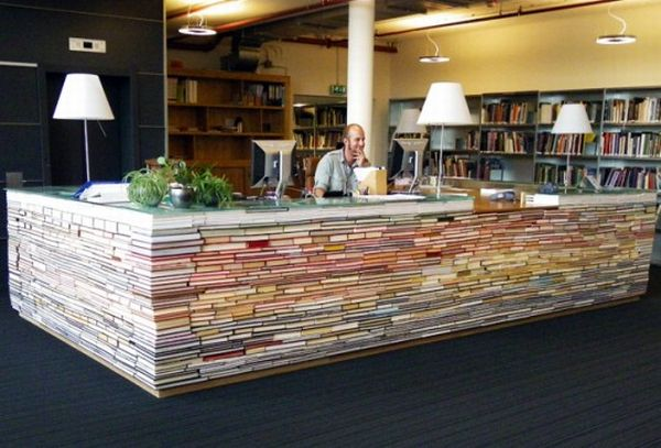 Desk Made From Recycled Books