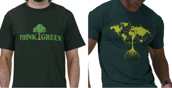 green message t shirts