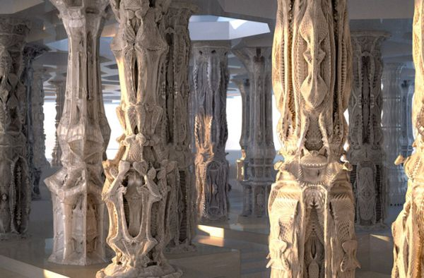michael hansmeyer cardboard columns