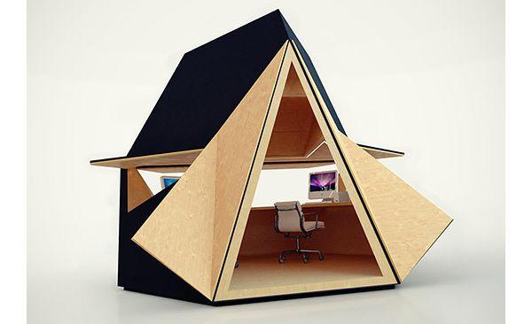 Modular tetra shed work space