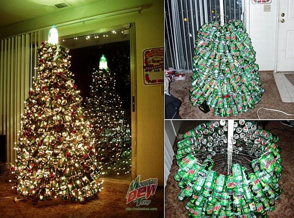 Mountain Dew Cans Christmas Tree