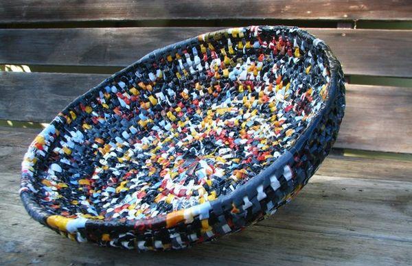 recycled plastic bag basket 5