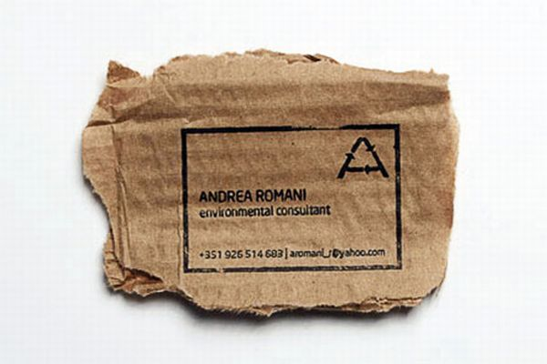 10 green business cards made using recycled paper - Green Diary ...