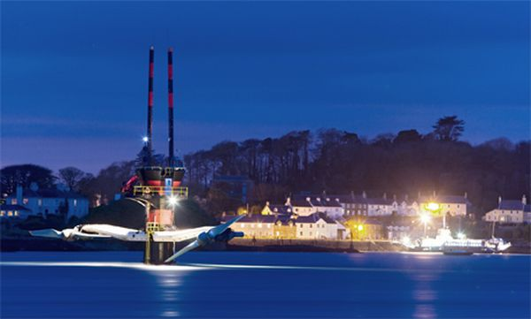 Underwater Turbine Harvests Tidal Energy