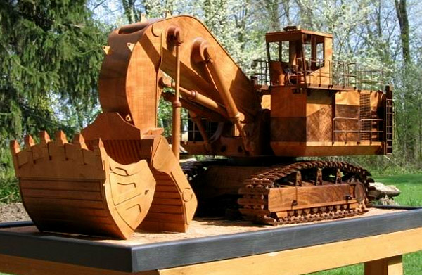 Wooden Caterpillar by Rob Fisher