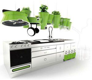 Green Kitchen Accessories For A Modern Kitchen