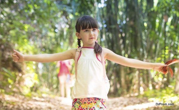 Child in the jungle