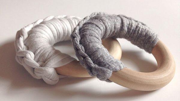 Fabric Yarn Crocheted Ring Teether