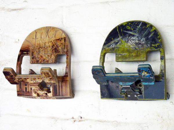 Recycled skateboard wall hooks by Deckstool