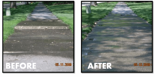 Sunken Sidewalk Repair