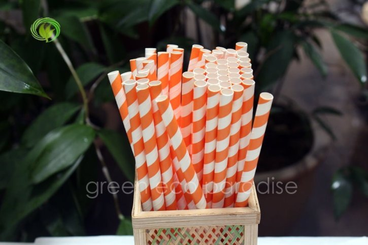 Paper straws that are ideal for cafes, bars and parties.