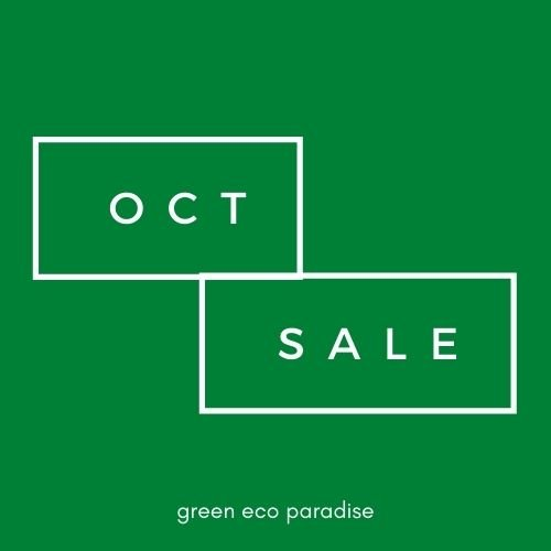 October Sale at Green Eco Paradise Malaysia. Get our biodegradable lunch box and cutlery.