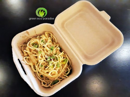 Food container for spaghetti.