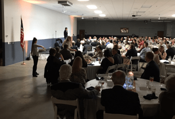 Comedian John Branyan performing at the Laughter Is The Best Medicine Gala on February 24, 2017