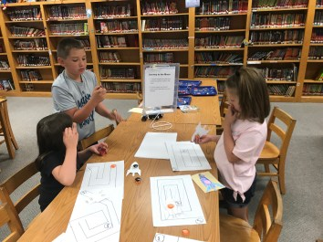 Eastern Greene Elementary students participating in Magnets and Space, a STEM activity funded by grant dollars from the Foundation and Regional Opportunities Initiative.