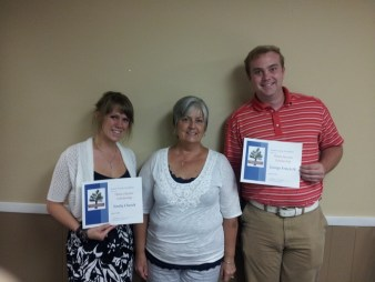 2013 Helen Hunter Scholarship winners Emily Church and George Fritch