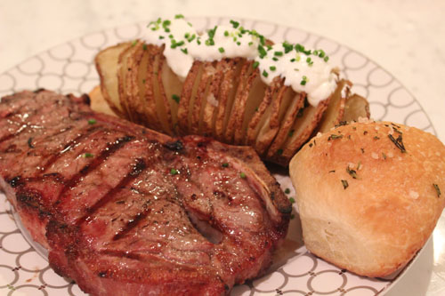 Hasselback Potatoes from the Big Green Egg