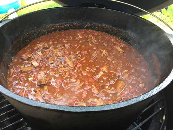 Brisket Chili on the Big Green Egg