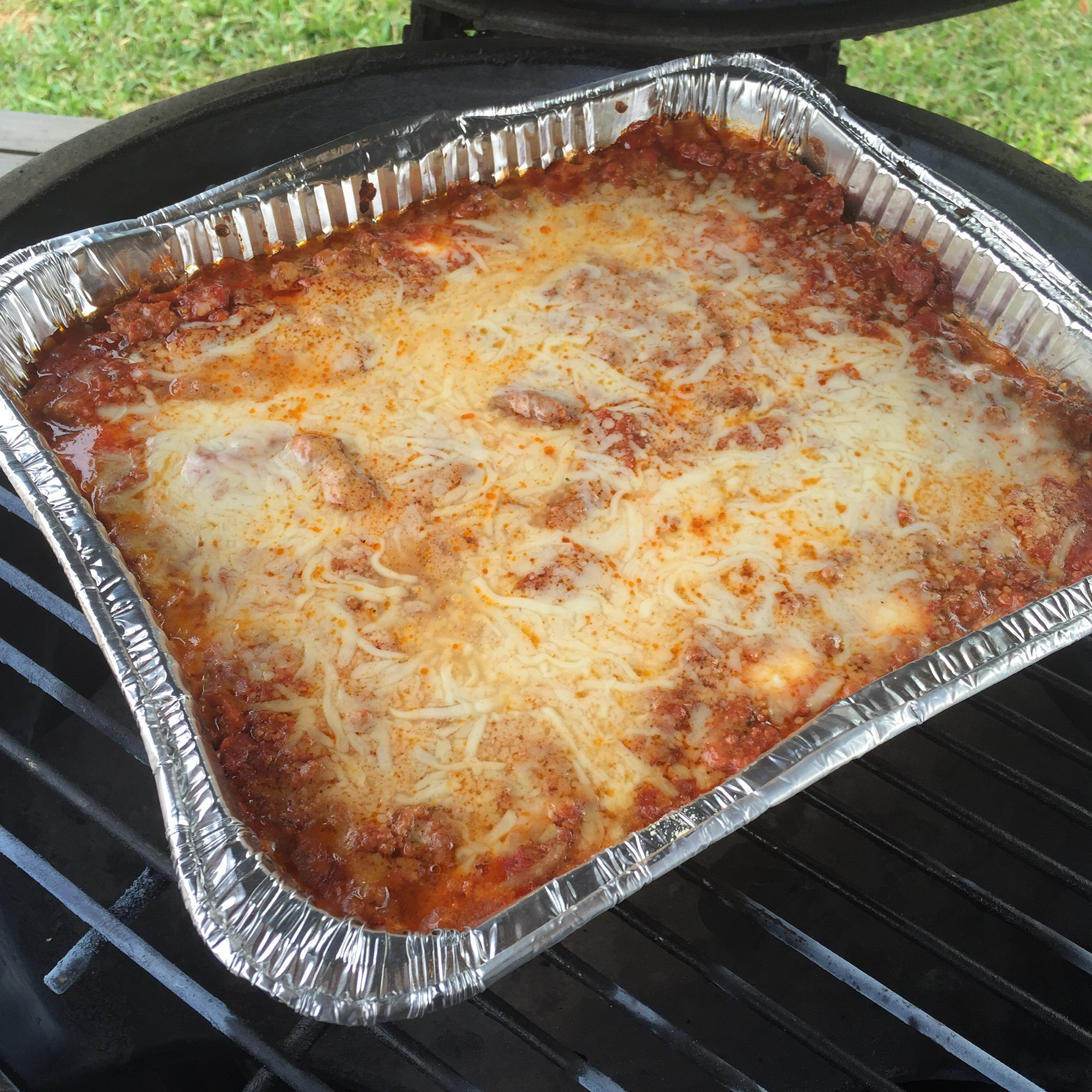 Big Green Egg Lasagna