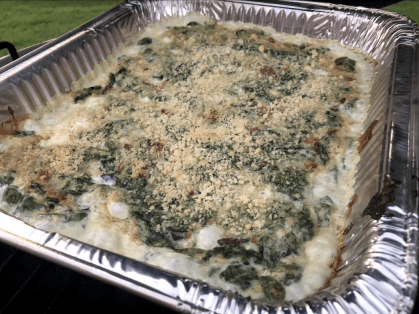 Smoked Creamed Spinach with Bacon