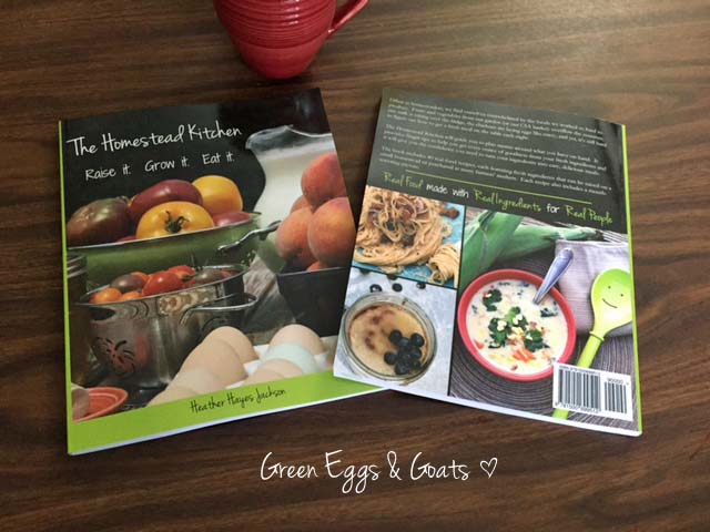 The Homestead Kitchen Cookbook front and back
