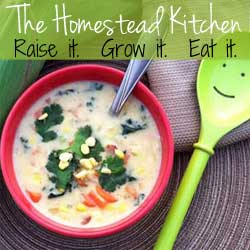 The Homestead Kitchen Corn Chowder Ad