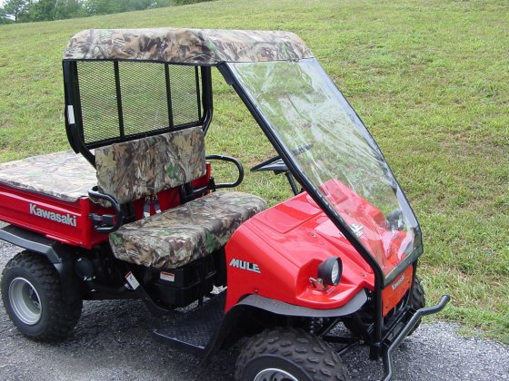 Kawasaki Mule 550 Cab Without Doors Greene Mountain