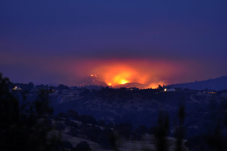 The Butte fire killed two people, burned 475 homes and charred nearly 71,000 acres, mainly in California's Calaveras County. Flickr/Eileen McFall