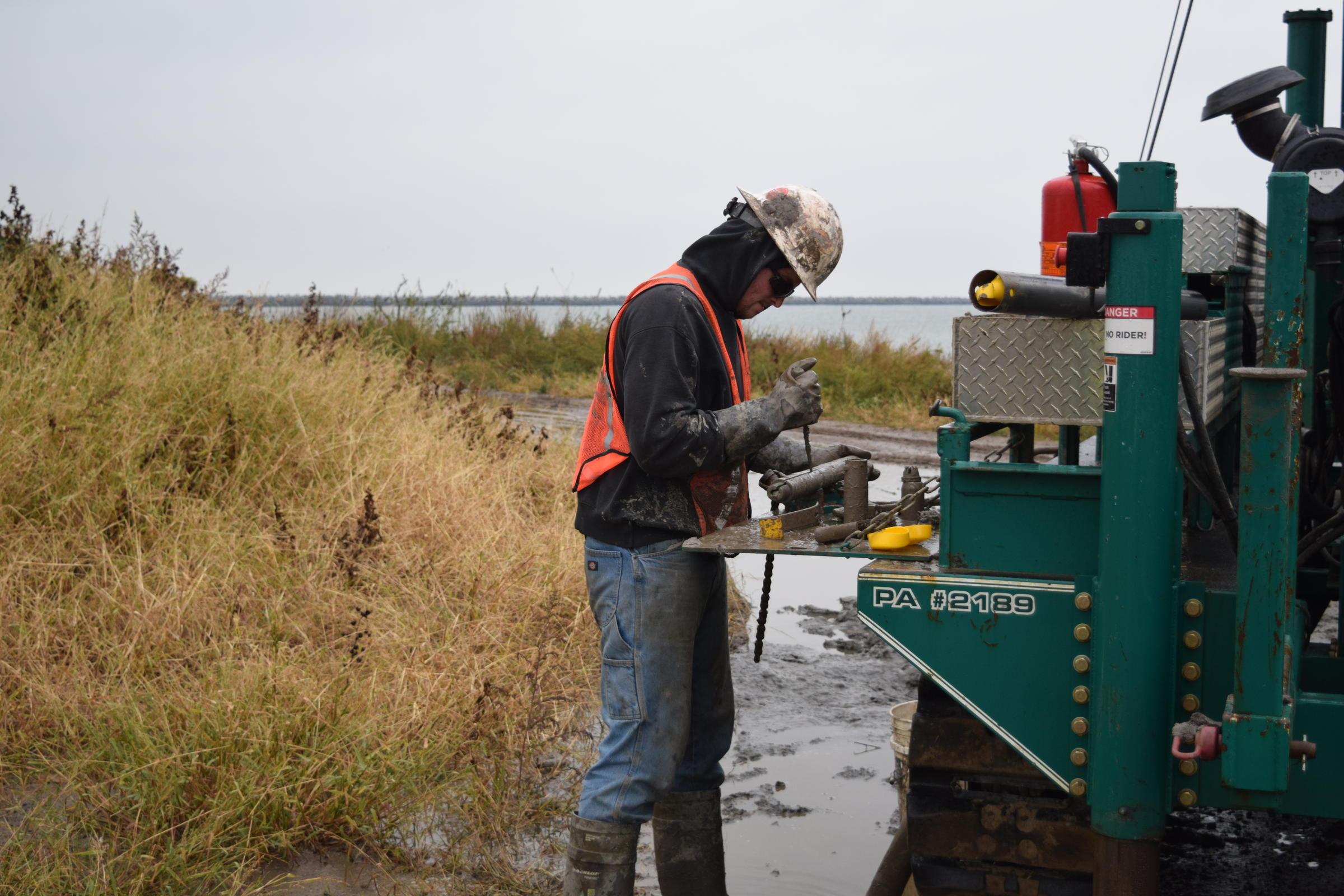 Soil sampling for Project Icebreaker (Photo by Elizabeth Miller)