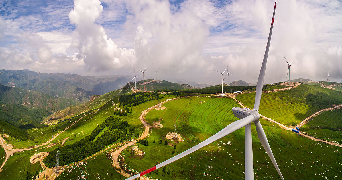 Shanxi, China wind farm. Photo: Wikimedia Commons.