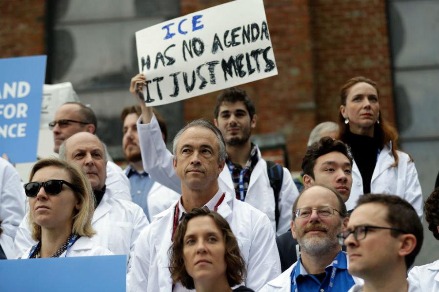 Scientists at rally (Marcio Jose Sanchez / AP / File)