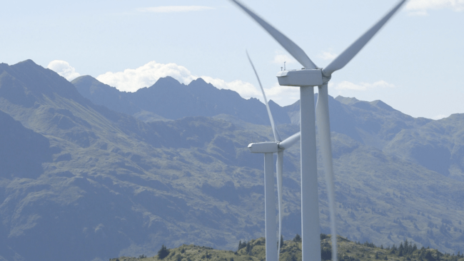 Turbines on Kodiak Island (Photo: Eric Keto | Alaska's Energy Desk)
