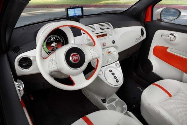 2013 Fiat 500e Interior