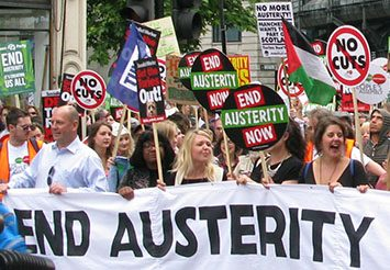 Anti austerity demonstration